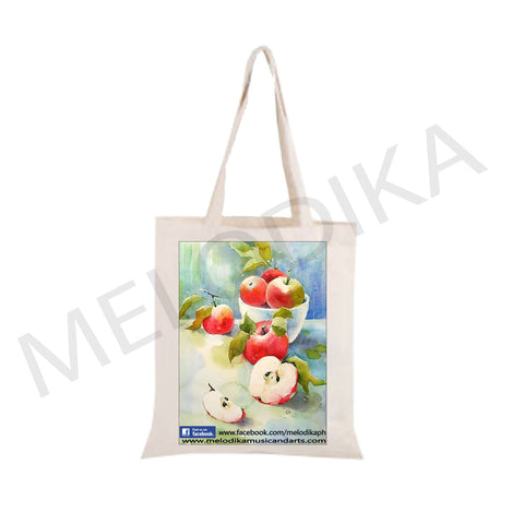 Canvas Tote Bag Apple - artist bag collections