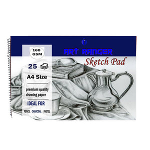 High Quality Art Ranger Sketch Pad 160gsm 25 sheets A4 Size Thick