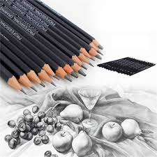 14 Drawing Charcoal Pencils Set Professional  Graphite Pencils Pencil for Artist