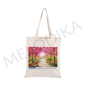 Canvas Tote Cherry Blossom - artist bag collections