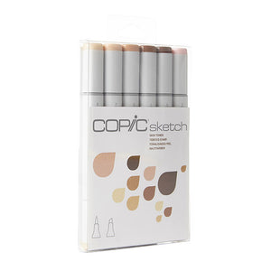 Copic Sketch Marker Set, Skin Tones