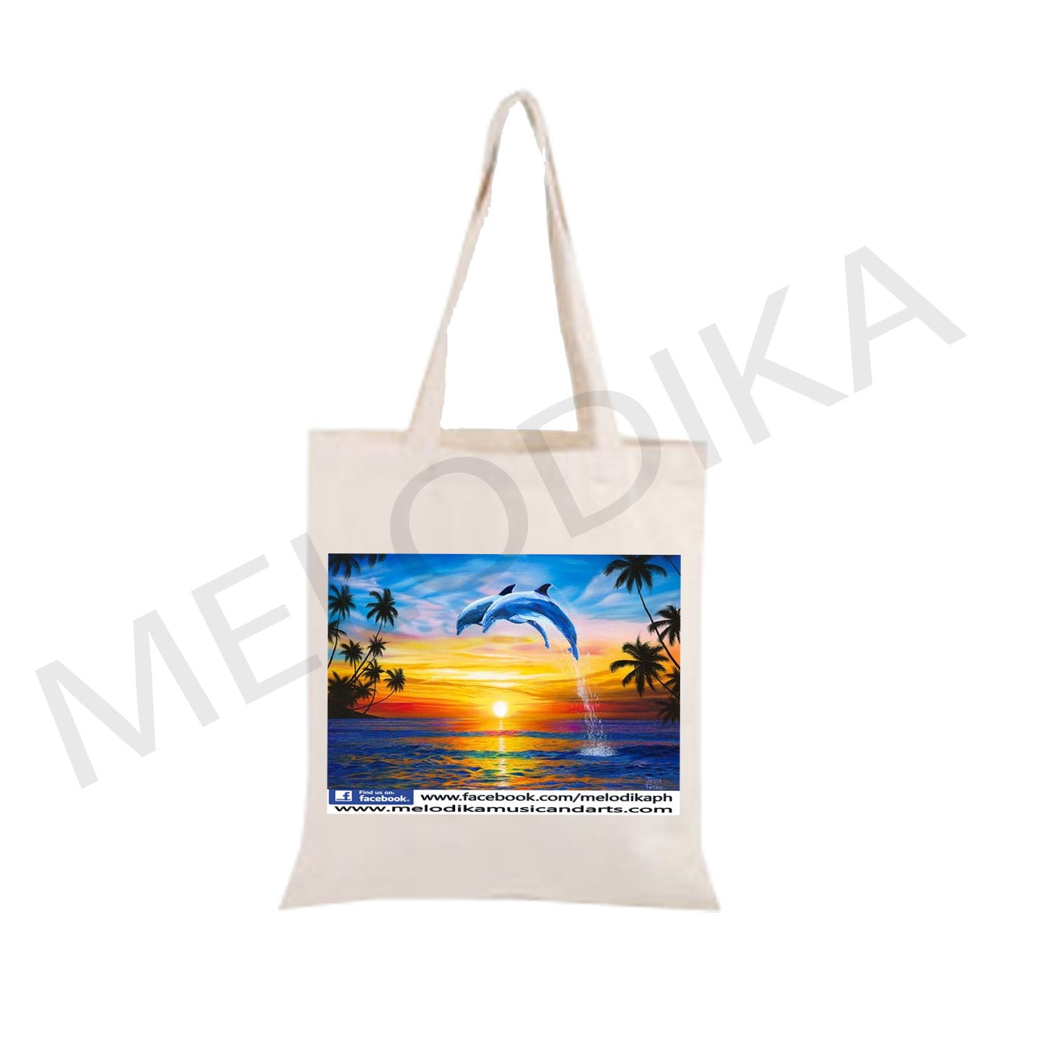 Canvas Tote Dolphin artist bag collections  13x15 inches