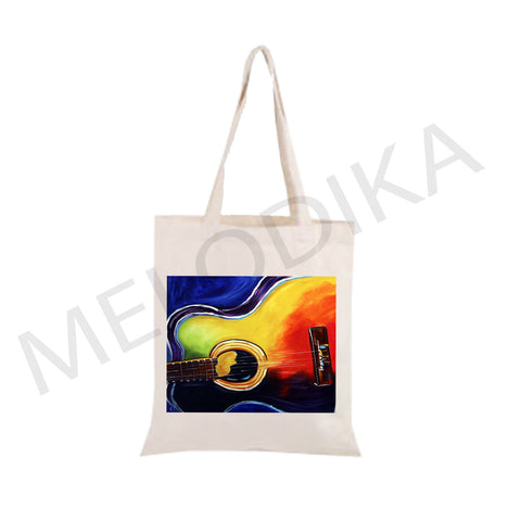Canvas Tote Bag Guitar Musical Bag - artist bag collections