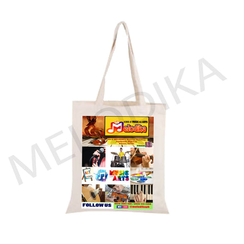 Canvas Tote Bag Melodika Signature Musical Bag - artist bag collections