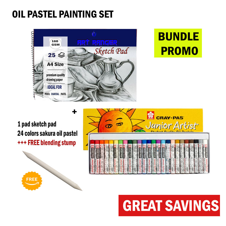 Oil Pastel Painting Set for Artist Beginner or Advanced Kids Adult Christmas Giveaways BUNDLE PROMO