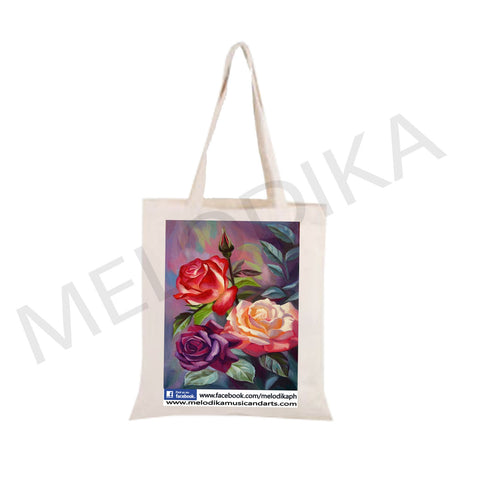 Canvas Tote Bag Rose- artist bag collections