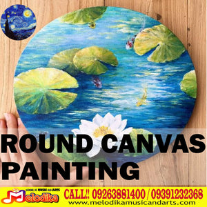 Round Canvas Painting to Decorate your Home