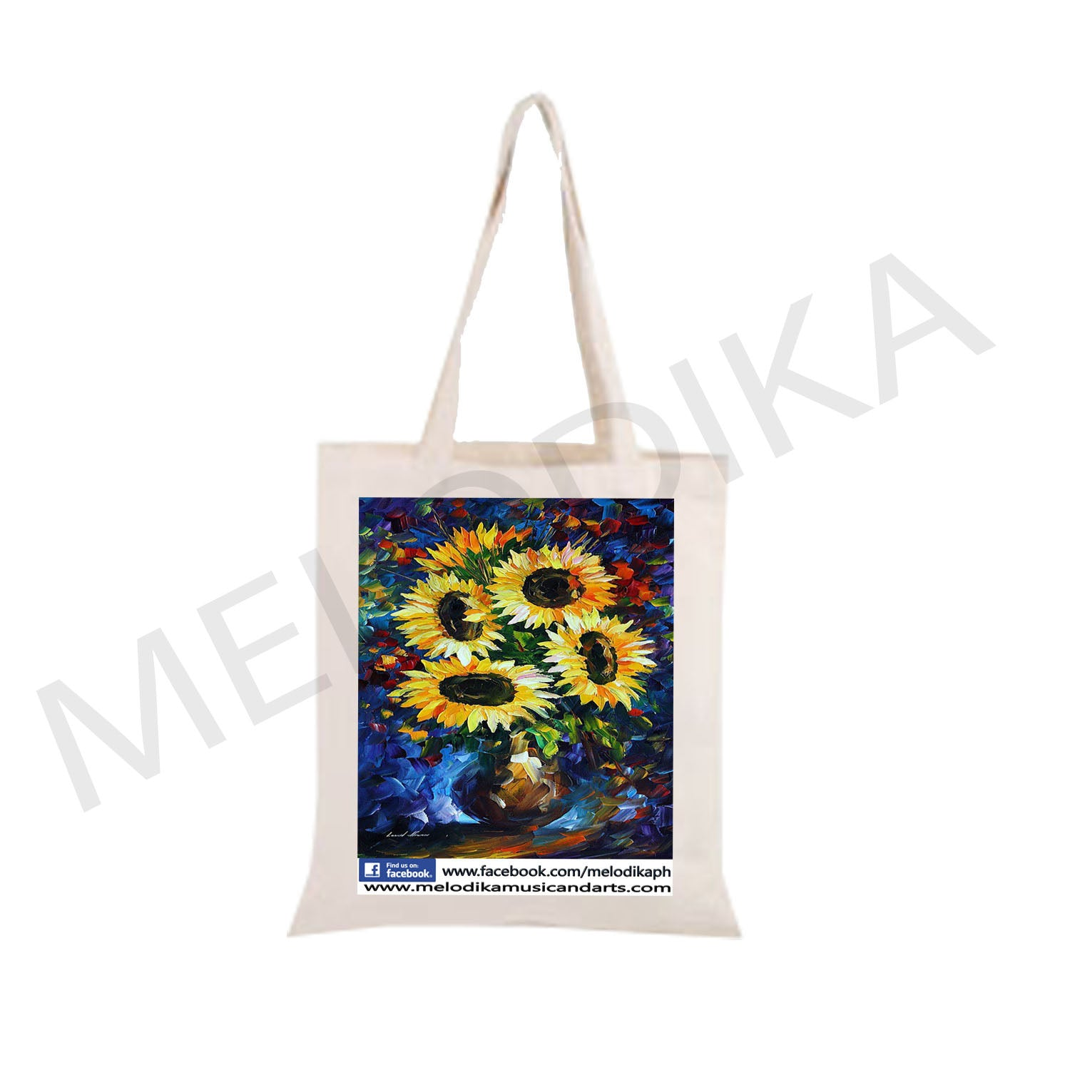 Canvas Tote Bag Sunflower Vase- artist bag collections