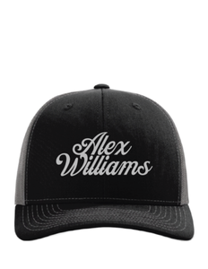 Black and Grey Script Hat