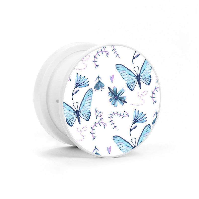 Blue Butterflies Phone Holder