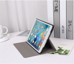 White Marble Leather iPad Case