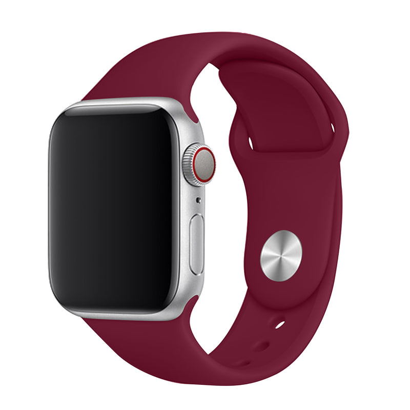 Burgundy Apple Watch Band