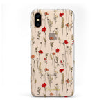Red Botanicals iPhone Case