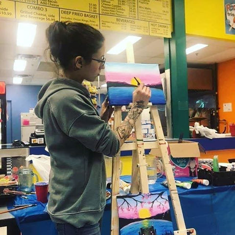 Kayla MacLean, artist, hosting a paint night class at the Playtrium, in Kingston.