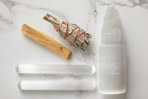 Selenite Meditation Cleansing & Purifying Kit