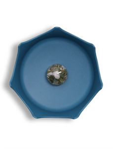 OCEANIC BLUE CRYSTAL PET BOWL