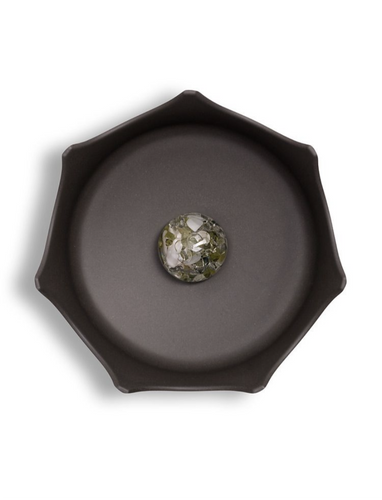 SLATE GREY CRYSTAL PET BOWL