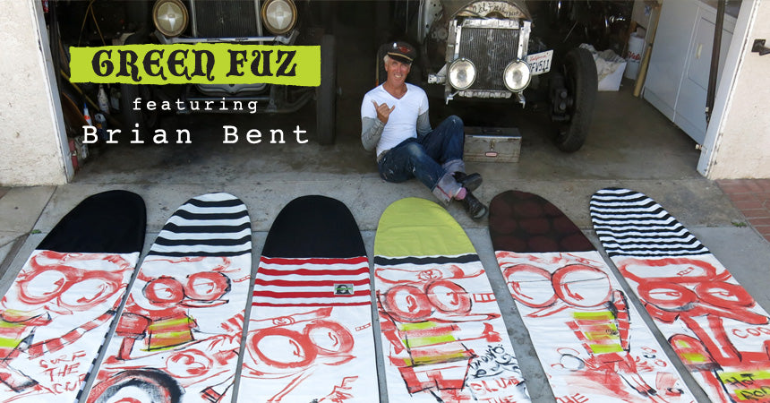 Green Fuz x Brian Bent Board Bags