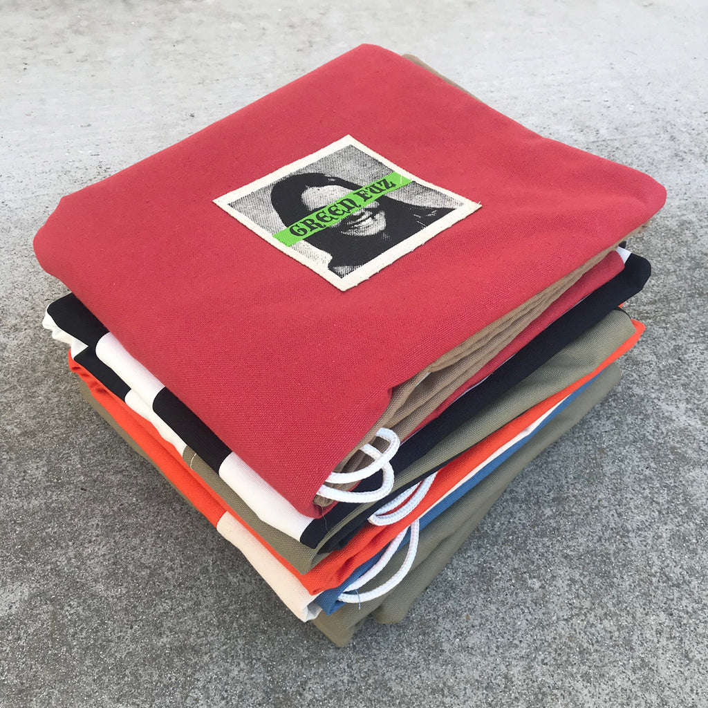 Green Fuz Canvas Board Bags