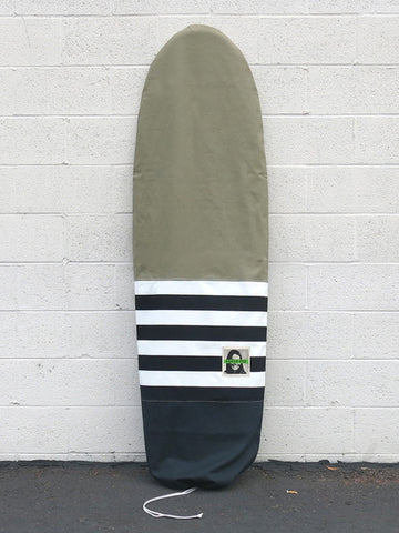 Green Fuz Fuzwar Canvas Board Bag - Front