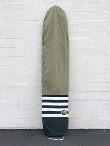 Green Fuz Fuzwar Canvas Longboard Bag - Front