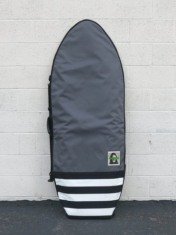 Green Fuz Greyscale Shortboard Travel Board Bag