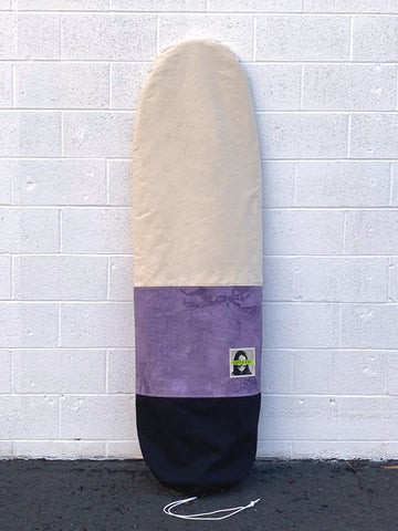 Green Fuz Dazed Canvas Long Board Bag Front