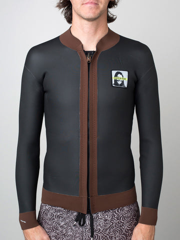 Green Fuz Reunion Wetsuit Jacket Brown