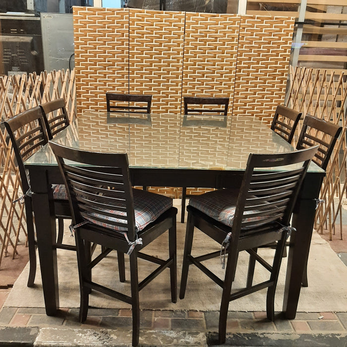 Solid Wood Dining Table Extentable 8 Chairs Dhs 999 00 Used Furniture Sale