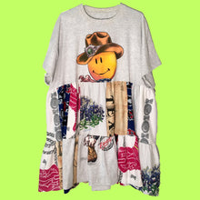 Load image into Gallery viewer, build your own custom patchwork t-shirt dress!!