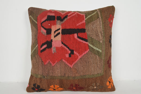 Kilim Pillows Austin A00501 24x24 Geometric Knit Rare Strong Handicraft