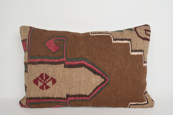 گلدوزی های کمر Kilim Pillows 16x24 E00001 Midcentury Kelim Ornament Kelim