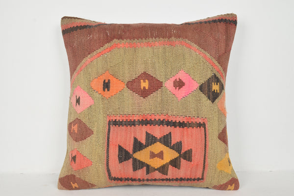 Outdoor Kilim Cushion A00302 24x24 Eastern Asian Tuscan Eclectic