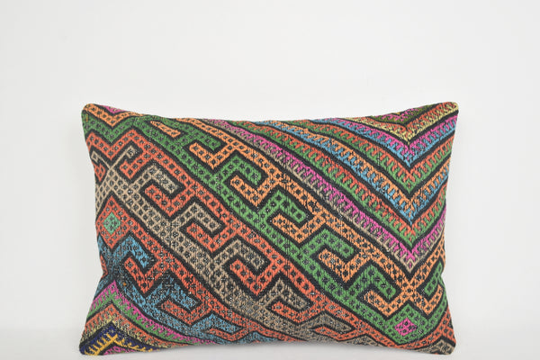 Ikat Kilim Cushion Cover E00103 Lumbar Village Hand Crafted Handwork