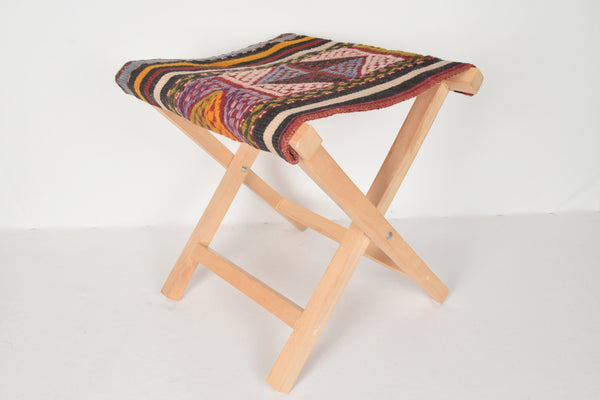Kilim Seating Stool, Footstool, Chair T5