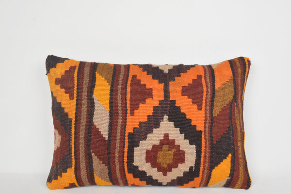 Kilim Floor Pillow E00204 Lumbar Room Nursery Cross-stitch