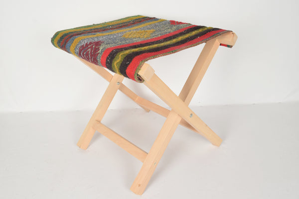 Kilim Seating Stool, Footstool, Chair T7