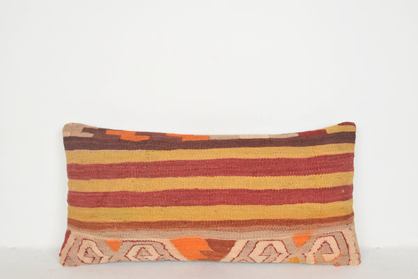 Kilim Rug Canada Pillow F00505 Lumbar Mexican Turkish Embroidery