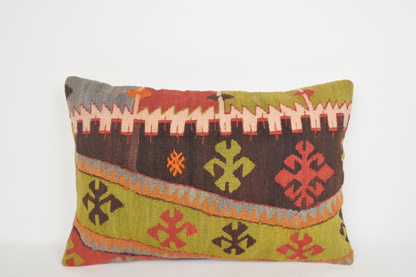 Kilim Pillows Wayfair E00105 Lumbar Modern Handknit Antique