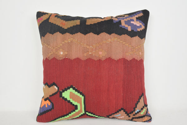 Moldavian Kilim Pillows 24x24 for sale A00005 Antique Embroidered