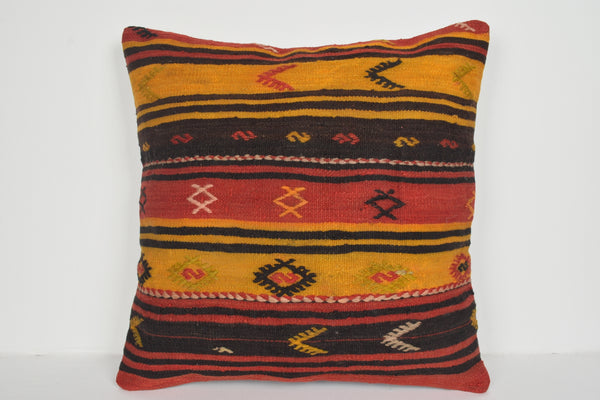 Antique Kilim Pillow Covers A00706 24x24 Native Hand Crafted Boho