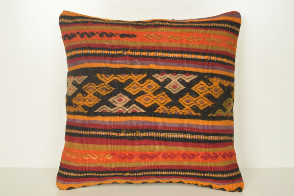 Buy Turkish Rug Pillow C01606 18x18 Precious Shabby Chic Knitted