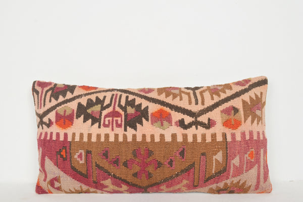 Bright Kilim Throw Pillow Lumbar G00006 Body Nomad Boho Traditional