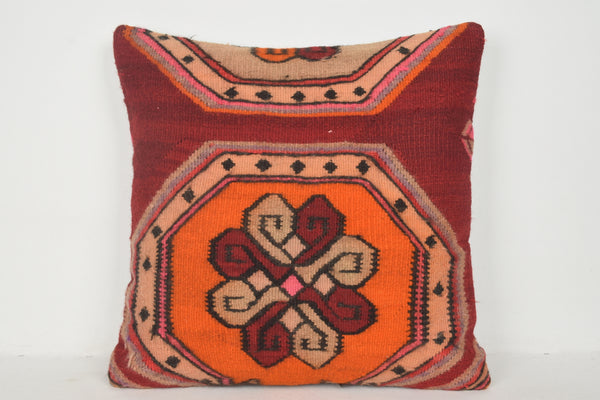 Kilim Pillow Pastel A00307 24x24 Furniture Hand Woven Adornment
