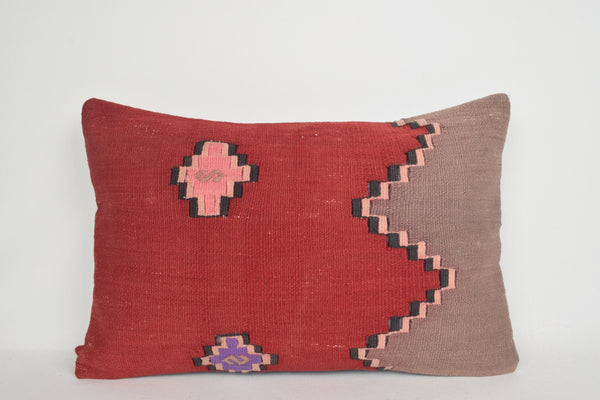 Overdyed Kilim Pillow Lumbar E00008 Furnishing Historic Decorative Bed