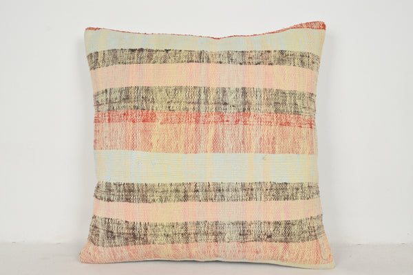 Kilim Pillows from Turkey A00608 24x24 Handwoven Model Knit Sofa