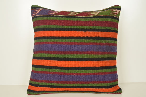 Kilim Vintage Pillows A00909 24x24 Culture Neutral Social Handknit