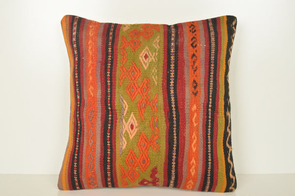 Persian Kilim Cushion C01610 18x18 Lace Organic Garden Neutral Wool