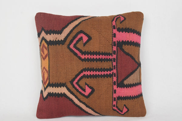 Pink Kilim Pillows Bohemian Traditional Vintage Anatolian D00010