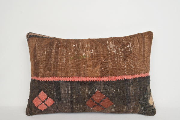 Kilim Pillow Covers made in Turkey Lumbar E00011 Couch Anatolian Boho